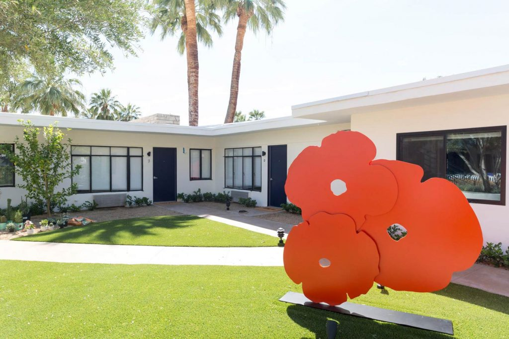 midcentury, modern, small, hotel, palm springs, architecture,